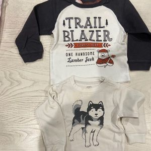 BUNDLE BOYS CARTERS 24 MONTH LONG SLEEVE SHIRTS